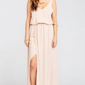 Show Me Your Mumu Kendall dusty blush maxi dress S